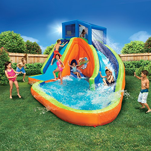 Extreme Inflatable Water Slide For Sale: Banzai Sidewinder Falls Inflatable Water Park Pool With