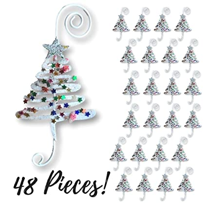 christmas ornament hooks set of 48 whimsical christmas tree ornament hangers adored with fun