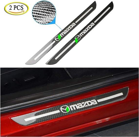 Anti Scratch Car Door Sill Cover Scuff Plate Protector Sticker for Mazda 6 3 5 2 CX5 MX5 CX3 ATENZA M2 M3 M5M6 CX9,25.5cm LAUTO 2pcs Epoxy carbon fiber Door Sill Sticker Scuff Plate Cover