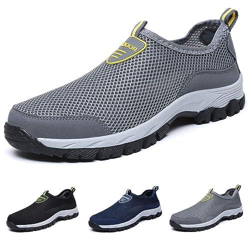 LANSEYAOJI Hombres Zapatos de Agua Verano Suave Respirable Zapatos de Malla Ligero Al Aire Libre Casual