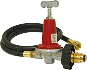 Bayou Classic 5HPR-40 48-Inch LPG Hose, High Pressure Adjustable Regulator