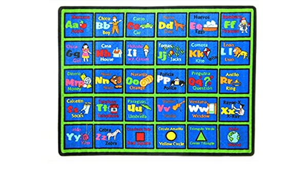 Amazon.com: Learning Spanish Kids Rug Rug Size: 66
