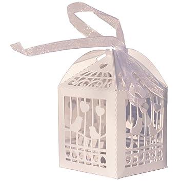 10 x Schachtel mit Klappdeckel Box fuer Gastgeschenk Geldgeschenk Hochzeit