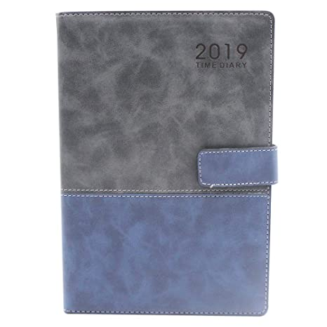 Amazon.com : 2019 PU Leather Calendar Year Monthly Weekly ...
