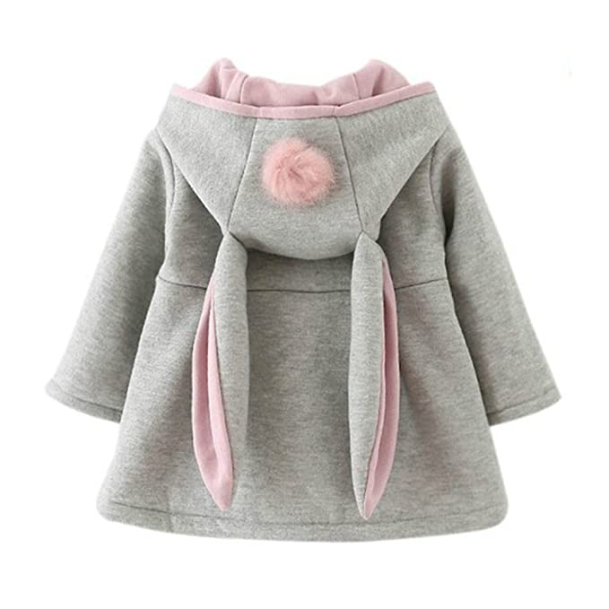 927915515 Gemini mall Baby Girls Cute Rabbit Ears Cloak Hooded Autumn Winter ...