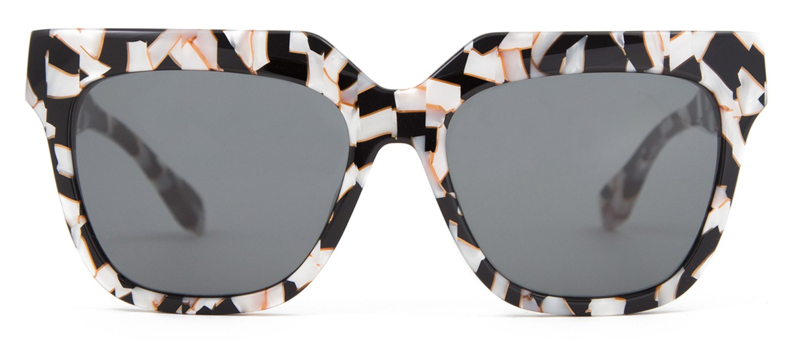 Sonix Women's Avalon Sunglasses, Luxe Marble/Black, One Size