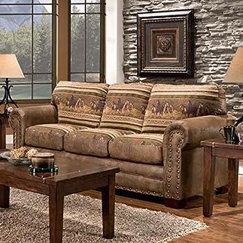 amazon com american furniture classics wild horses sleeper sofa rh amazon com sofa with heated seats sofa with height
