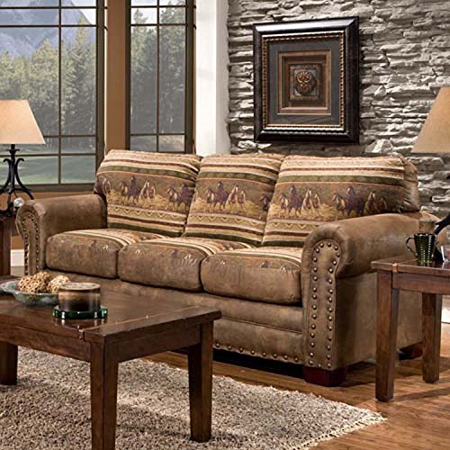 American Furniture Classics Wild Horses Sleeper Sofa Features