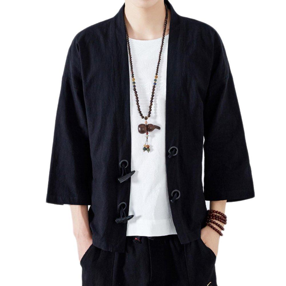 Amazon.com: Chinese Style Mens Clothing Tang Jacket Kimono ...