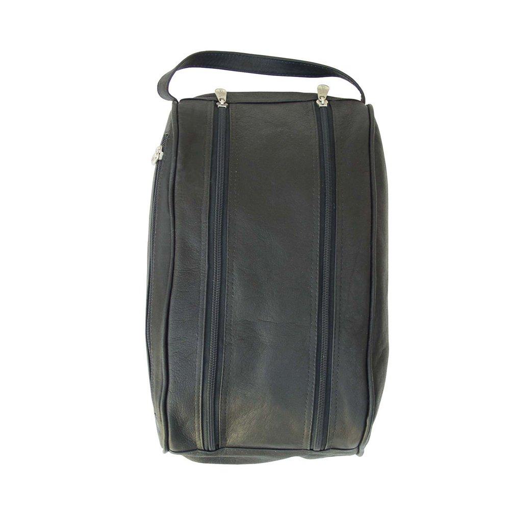 Piel Leather Double Compartment Shoe Bag, Black, One Size