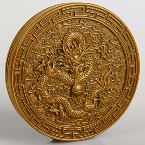 Ornate Brass Vintage Paperweight Dragon,Kirin Ancient Chinese Gods Home & Office Decor Gifts Ornaments Decor Decorations + One Free Stent
