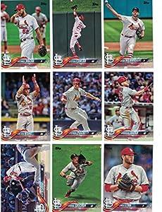 St Louis Cardinals / Complete 2018 Topps Series 1 Baseball 11 Card Team Set! Includes 25 bonus Cardinals Cards!