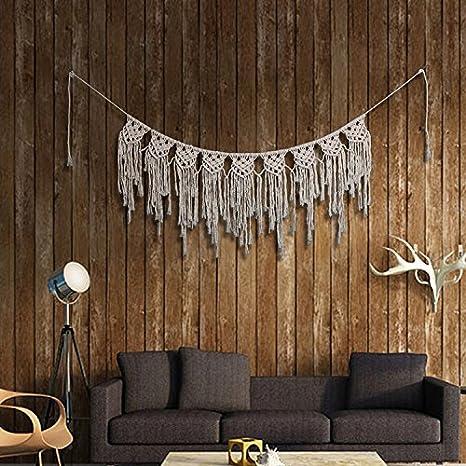 Amazon.com: Macramé cortina de ventana cenefas tela a mano ...