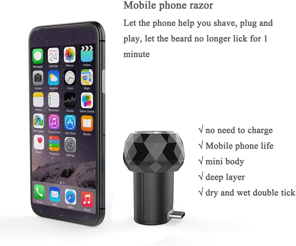 Maquinilla de afeitar para teléfonos móviles, afeitadora Mini ...