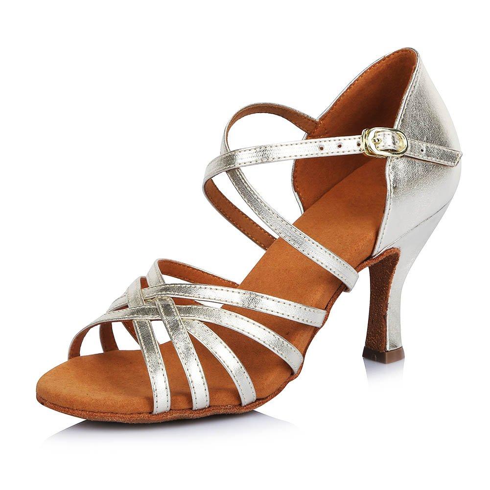 HIPPOSEUS Damen  Mauml;dchen Sandalen Ausgestelltes Tanzschuhe/Ballsaal Standard Latein Dance Schuhe,DEAF404  33 EU|Gold