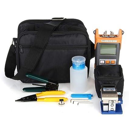 CGOLDENWALL Kit de herramientas de fibra óptica FTTH con limpiador de fibra FC-6S y