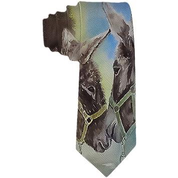 Corbata para hombre Burro lindo con corbata de seda de poliéster ...