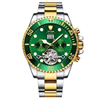 Good Mechanical Men's Automatic Automatic Watch with Solid Stainless Steel Strap