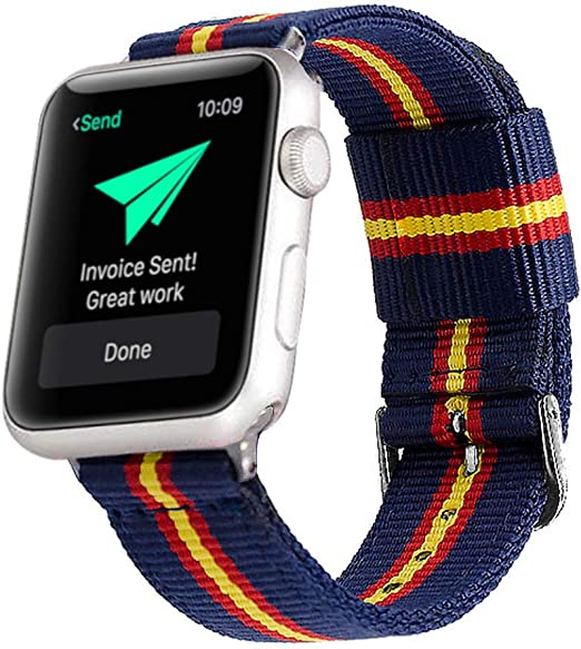 Estuyoya - Pulsera de Nailon Compatible con Apple Watch Colores ...