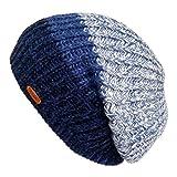 LETHMIK Unique Winter Skull Beanie Mix Knit Slouchy Hat Ski Cap For Men & Women Blue