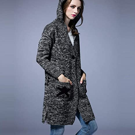 Amazon.com: Women Winter Warm Sweaters Coat Jacket Parka ...