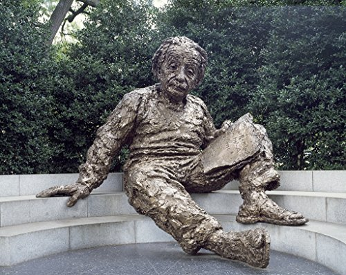 16 x 24 Art Canvas Wrapped Frame Giclee Print of Albert Einstein memorial situated an elm and holly grove southwest corner the National Academy Sciences grounds Washington DC [bet Highsmith 91a West Elm Gallery Frame