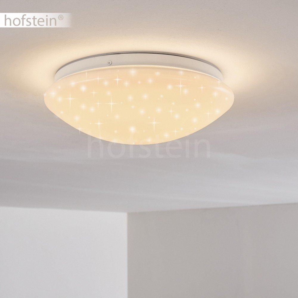 LED Designer Deckenleuchte Brighton mit Sternenhimmel und RGB Farbwechsler – Deckenspot runder Deckenspot – mit Fernbedienung und farbigem Licht – Deckenlampe mit eingebauten LEDs – Dimmbar - Nachtlichtfunktion e41278