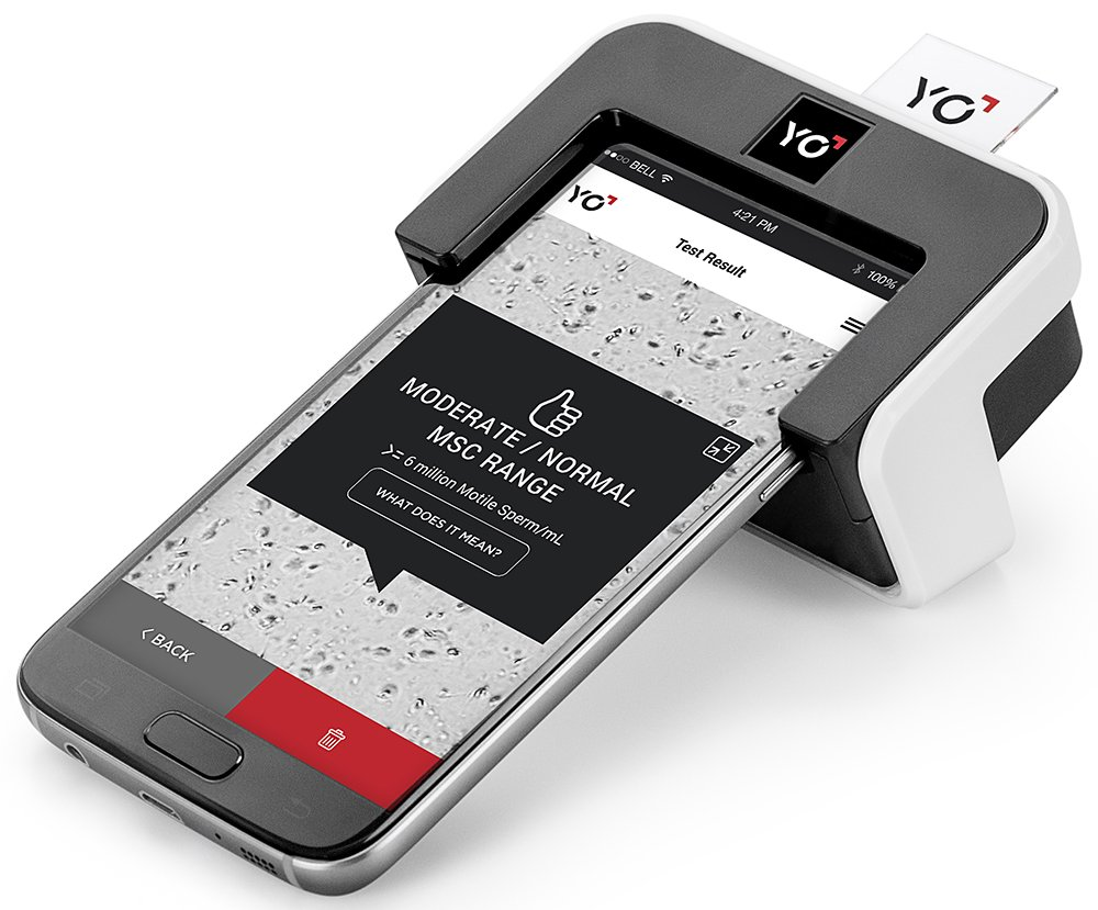 YO Home Sperm Test for Samsung Galaxy | Includes 2 Tests | Men's Motile Sperm Fertility Test | Check Moving Sperm and Record Videos | Samsung Galaxy S7