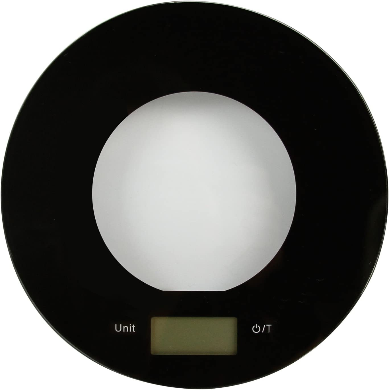 Evelyne Round Digital Kitchen Scale Glass Surface Ideal for Food Portion Measuring