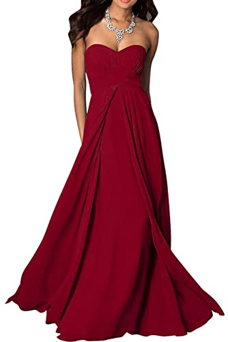 Chic Bride Brief Sweetheart Floor Length Bridesmaid Dress Evening Party Dresses