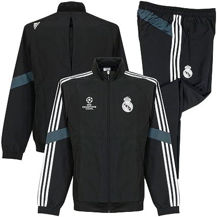 Adidas Présentation De Real Small Madrid Ucl Noir Survêtement vwm08Nn