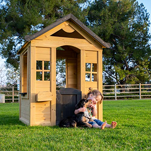 Be Mindful | Solid Wood Outdoor Playhouse in Natural Finish
