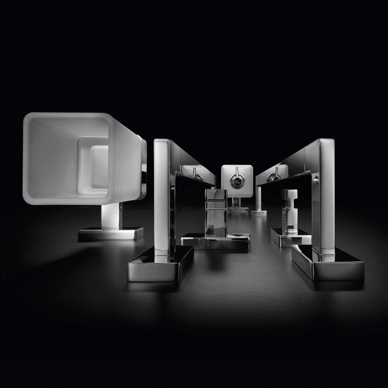 INDA Lea Porte-Serviettes en Laiton 8 x 51 x 3 cm Blanc