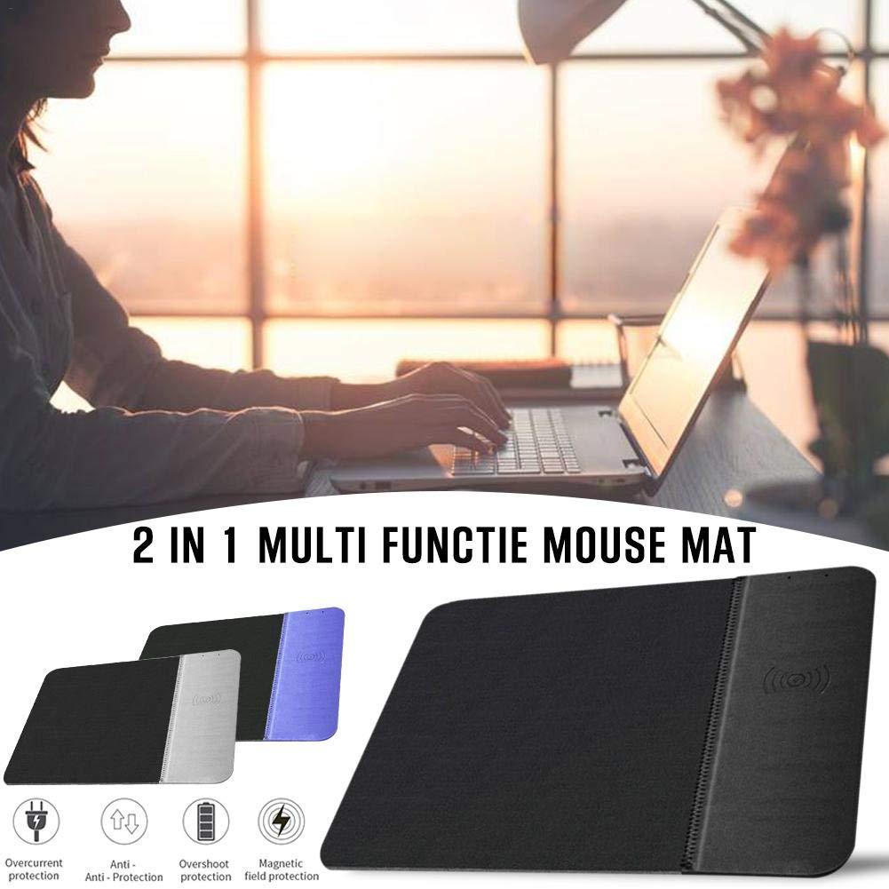 5W 2 en 1 tapete Adaptadores incluidos para la mayor/ía de los tel/éfonos Inteligentes incluidos iPhone y Android Valensweet Alfombrilla de rat/ón Qi de Carga inal/ámbrica 10W