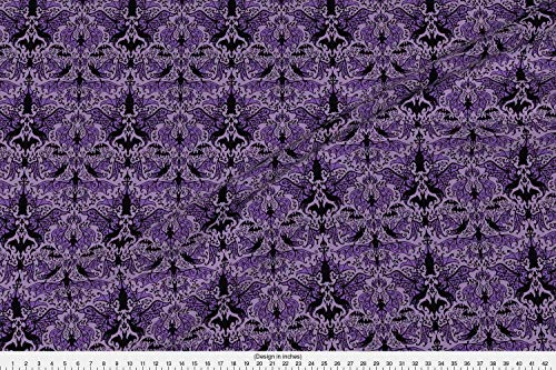 Bats Fabric - Halloween Haunted Mansion Spooky Creepy - by Sandityche Printed on Modern Jersey Fabric by The -