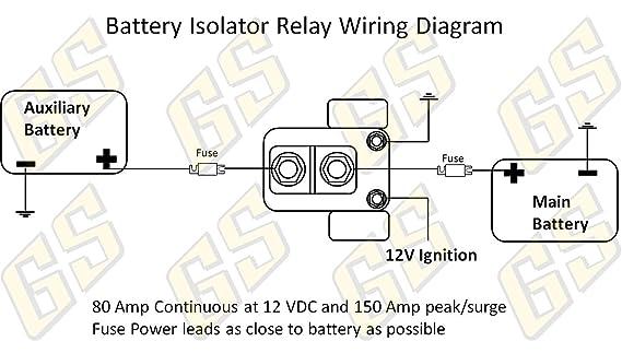 amazon com gs power 150 amp dual auxiliary battery charge isolator rh amazon com