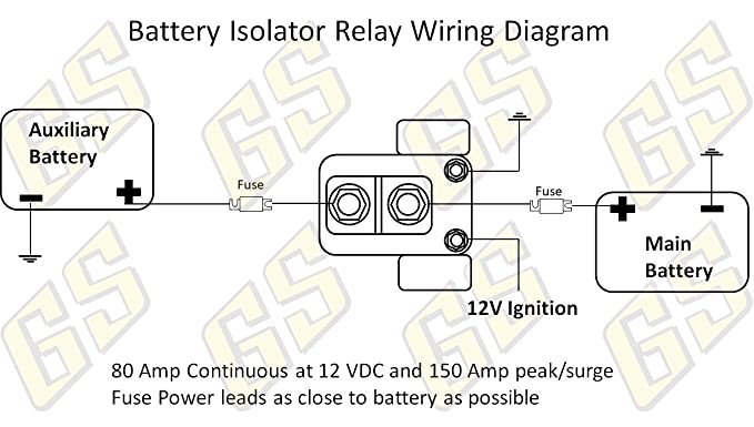 61V4WSfS9EL._SX679_ amazon com gs power 150 amp dual auxiliary battery charge isolator
