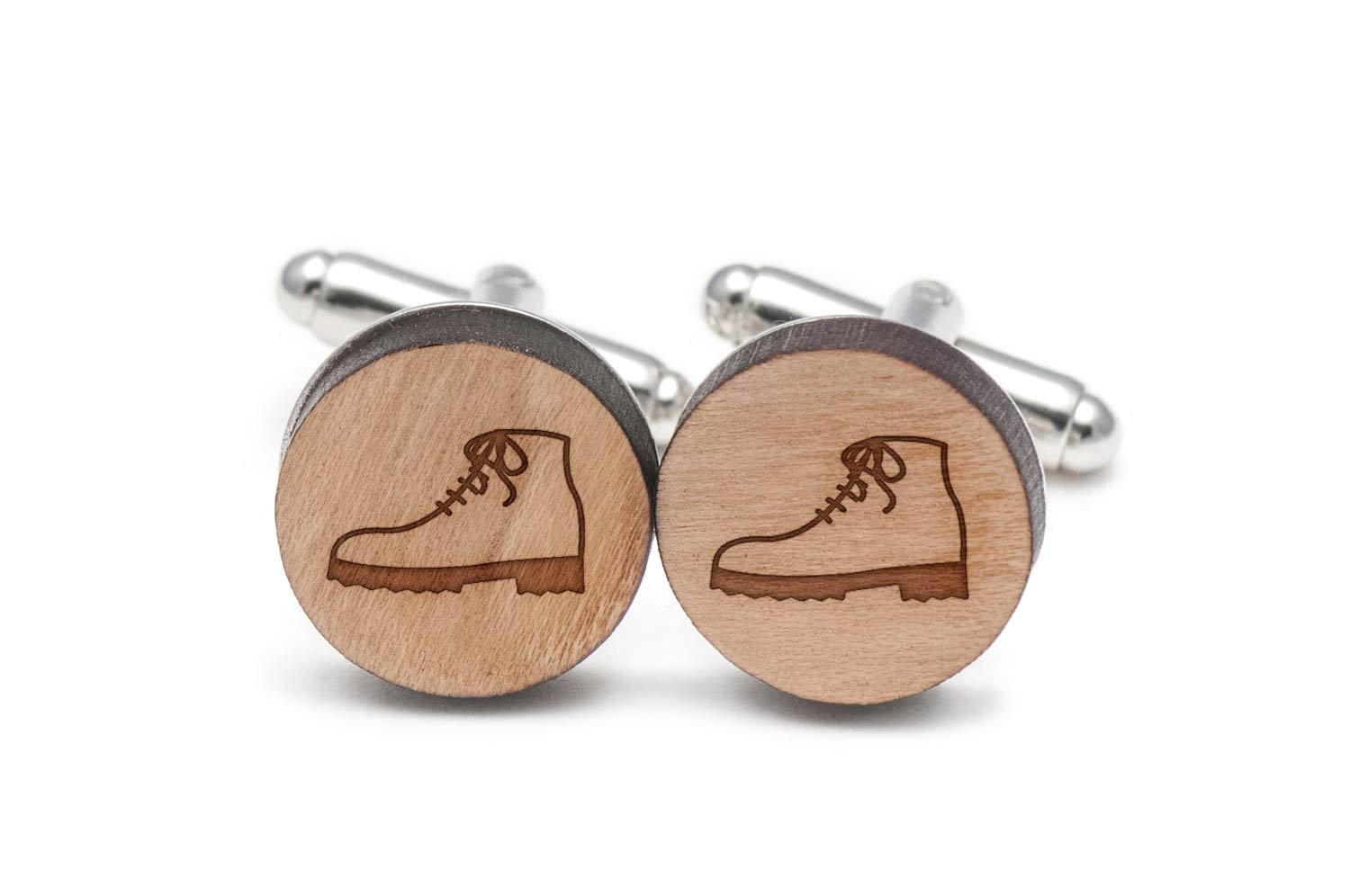 Boot Cufflinks, Wood Cufflinks Hand Made In The Usa