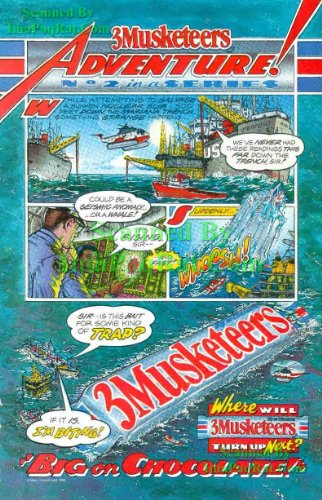 3 Musketeers: Big on Chocolate: Adventure #2 of 6: Salvage a Nuclear Sub, Mariana Trench: Great Original Print Ad! - Marianas Trench Poster