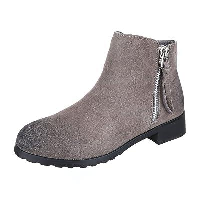 Ital Design Chelsea Boots Leder Damen Schuhe Chelsea Boots