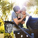 Stroller Organizer for Baby Accessories, Universal Attachable Travel Tray Bag