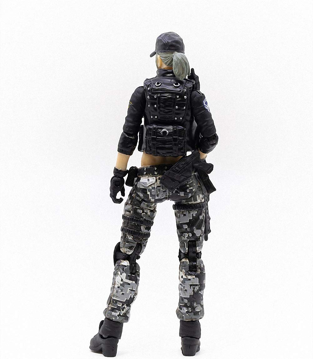 JoyToy 1//18 Soldier Action Figures 4-Inch CF LieHu B Female Anime Figure Dark Source Cross Fire Game Collection Action Figure Military Model Toys