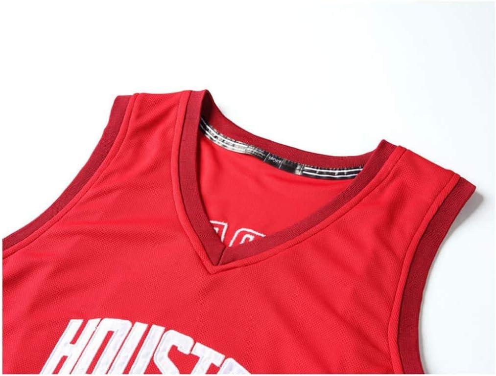 MMW Maillot et Short de Basketball pour Hommes Houston Rockets James Harden Sweat-Shirt de Basket-Ball /édition en Vrac