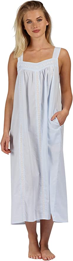 Victorian Nightgowns, Nightdress, Pajamas, Robes The 1 for U Nightgown 100% Cotton Sleeveless + Pockets Meghan $44.99 AT vintagedancer.com
