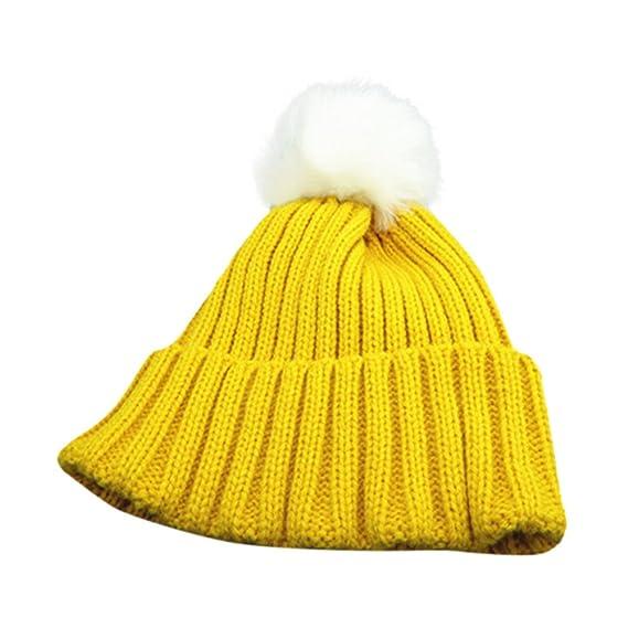 DEELIN NiñOs NiñO PequeñO NiñOs Caliente Tejer Beanie Hat Chicos NiñAs Piel Pom Bobble Crochet Cap. Pasa ...