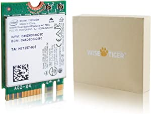 WISE TIGER Authentic Intel Dual Band Wireless-AC 7265NGW Intel 802.11ac, 2x2, Bluetooth 4.2 M.2 WiFi Card 1200Mbps for Notebook/Laptop