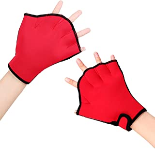 Silicone Webbed Swim Training Gloves Closed Full Finger Diving Snorkeling Gloves Best Christmas for Unisex Adult Kids Teenages Girls Boys Fit Average Size Hands Sale for Pair HC-05 HENSE