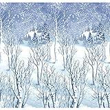 Winter Wonderland Scene Setters Plastic Room Rolls Wall Decoration, 1 Rolls, 4 x 40 Feet