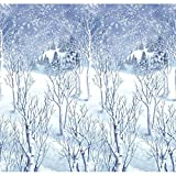 "Limited Time Offer on Amscan Winter Wonderland Scene Setters Plastic Room Rolls, White, 48"" x 40'."