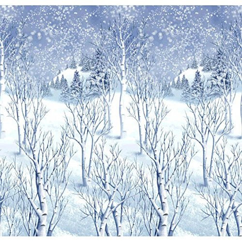 Winter Wonderland Scene Setters Plastic Room Rolls Wall Decoration, 1 Rolls, 4 x 40 Feet (Christmas Scene Setters Decorations)